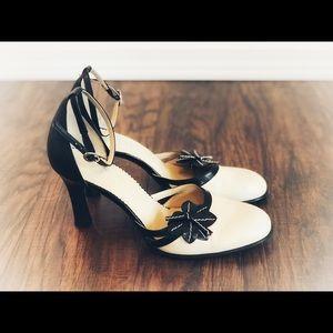 ❤️Franco Sarto High Heels, Black, Cream, 8